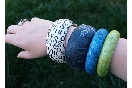 Fabric covered bangles