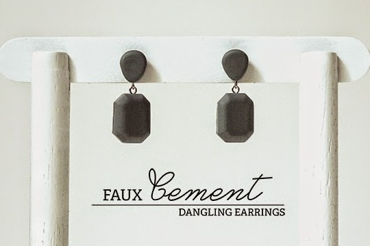 Diy: faux cement dangling earrings