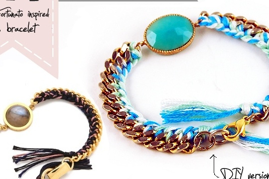Diy: lizzie fortunato inspired taos bracelet