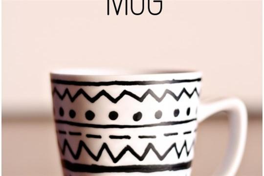 DIY Tribal Print Mug