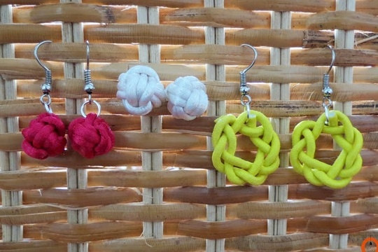 DIY and crafts: DIY knot earrings