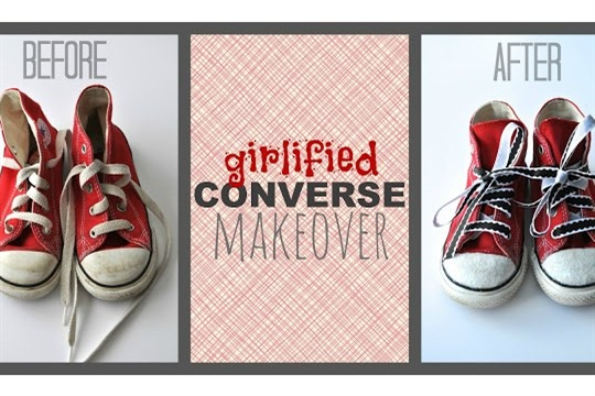 Girlified Converse Shoe Makeover
