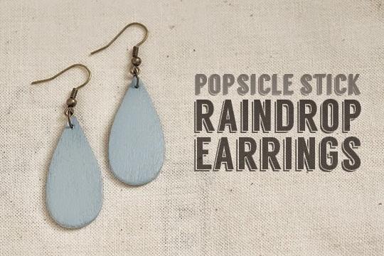 Diy: popsicle raindrop earrings