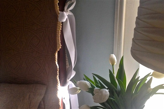 Bedroom Refresh DIY Slipcovered Headboard