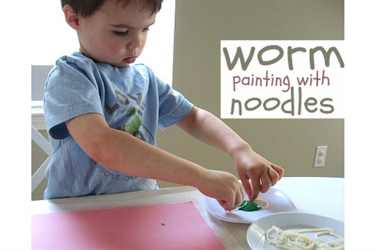 Worm Painting For Toddlers