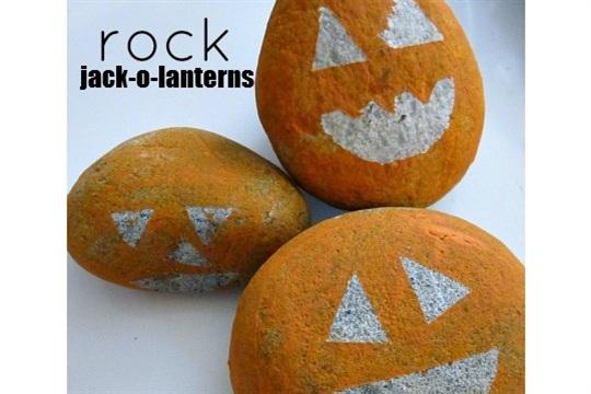 Rock Jack Lantern Craft