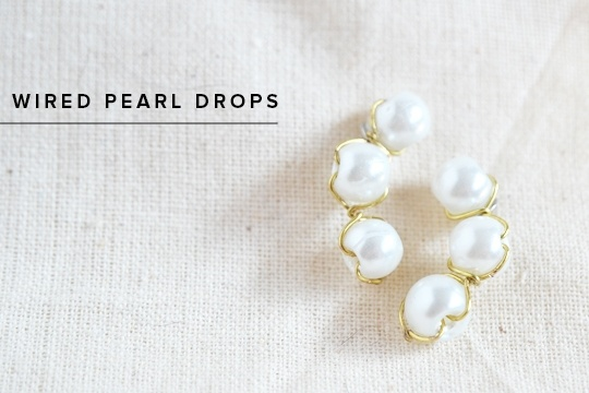 Diy: wired pearl drops