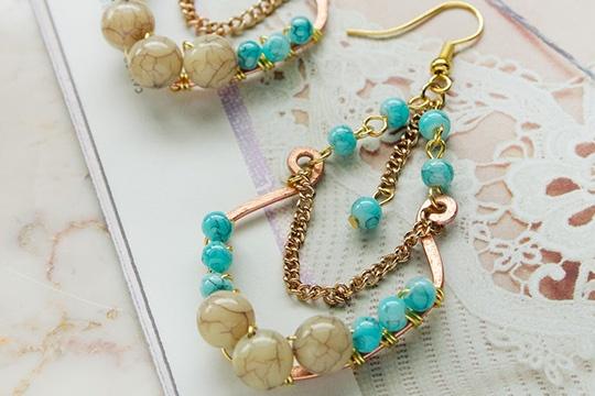 Tulum turquoise earrings