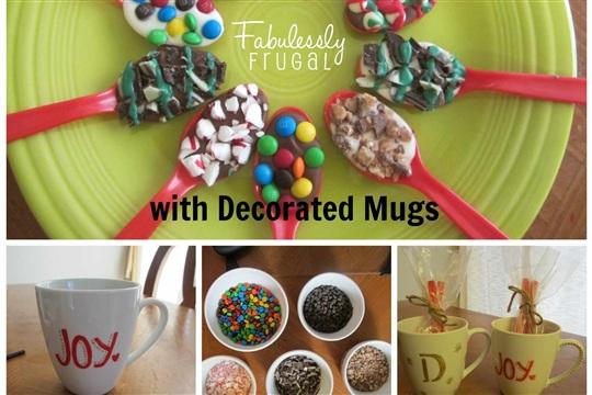 Hot Cocoa Stirring Spoons &  Mugs