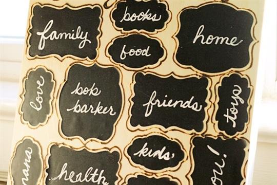 Chalkboard Labels Craft Reusable Gratitude Artwork