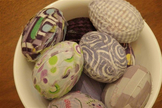 No sew Fabric Easter Eggs