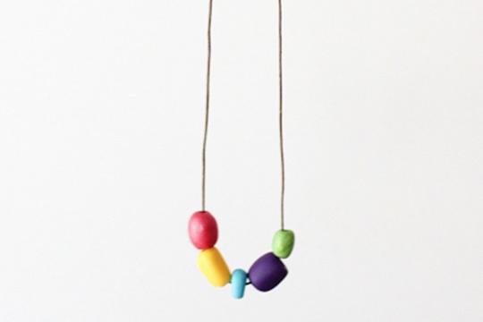 DIY clay bead necklace