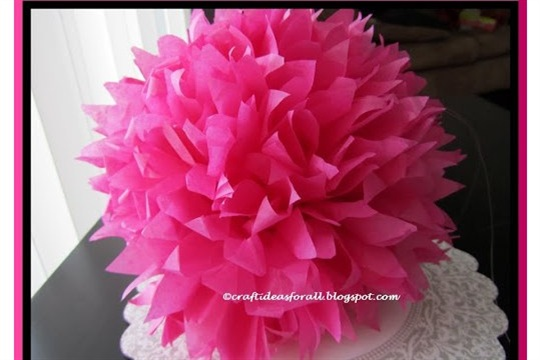 Party Decoration Craft Paper Pom Poms