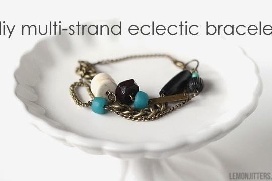 DIY multi-strand eclectic bracelet