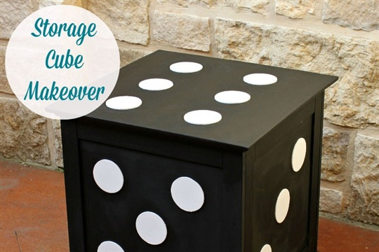 DIY End Table Storage Cube {Furniture Makeover}
