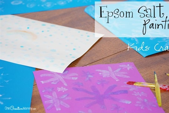 Cool Epsom Salt Painting Craft