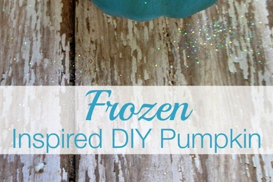 Disney's Frozen Inspired DIY Pumpkin