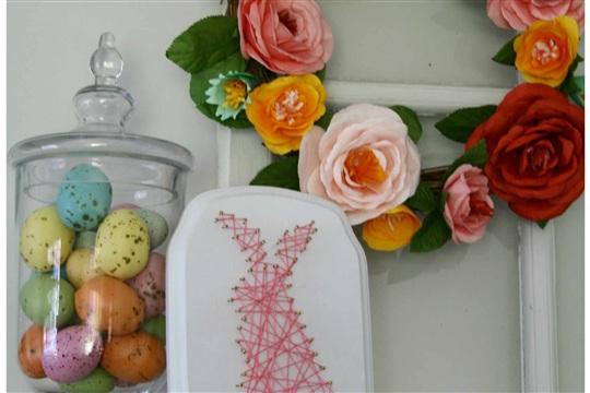 DIY Easter String Art {Craft}
