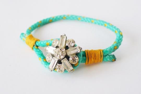 DIY button cord bracelet
