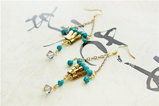 Lucky lantern earrings