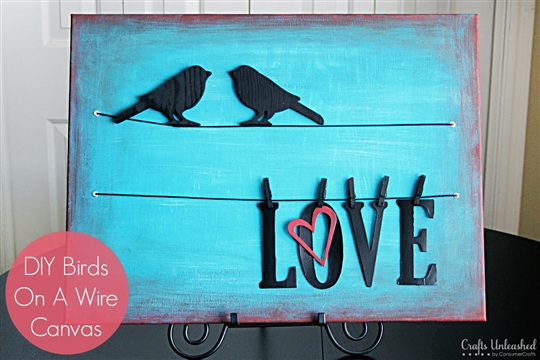 Birds On A Wire DIY Canvas Wall Art Tutorial