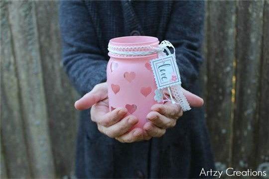 Easy DIY Valentine's Day Votive