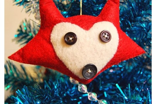 Felt Fox Ornament