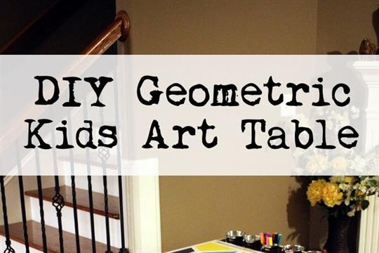 DIY Geometric Kids Art Table - September Fab Furniture Flippin' Contest Entry