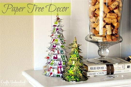 Paper Tree DIY Holiday Decorations Tutorial