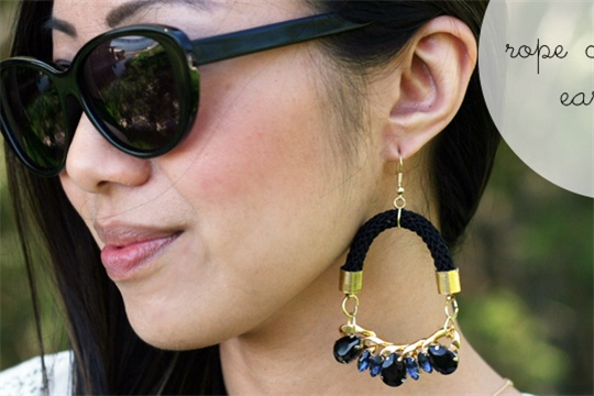 Rope chandelier earrings