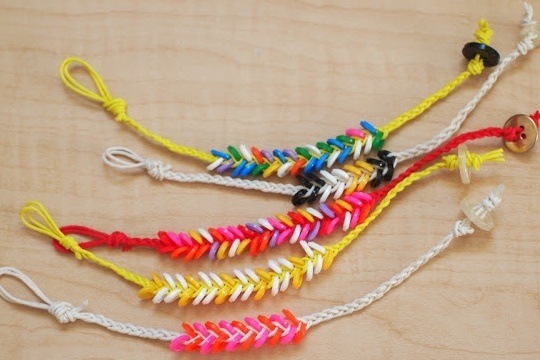 Melted perler bead braided bracelet