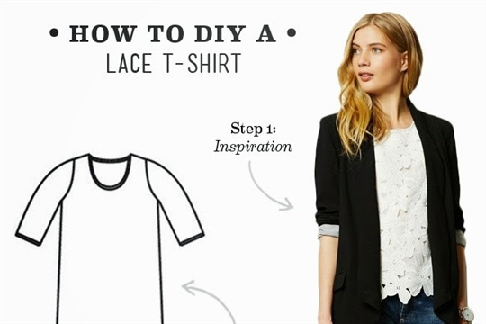DIY Outfit - Lace Tee