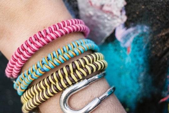 Fishtail braid bracelet