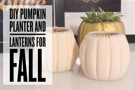 DIY Pumpkin lanterns and planter How to make a pumpkin with salt dough