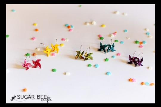 How to Make Clay Pinwheel Earrings