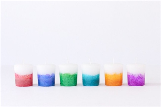 Alcohol Ink Dyed Candles