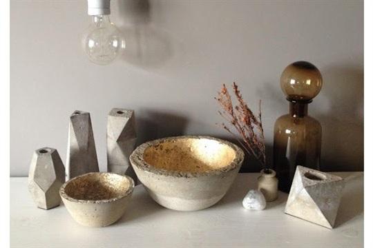 My concrete home accessories....