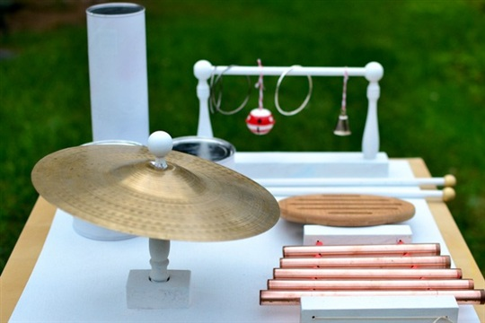 DIY Music Table from Household Materials