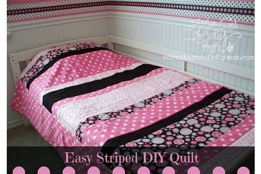 How to Make a Quick and Easy Striped Quilt