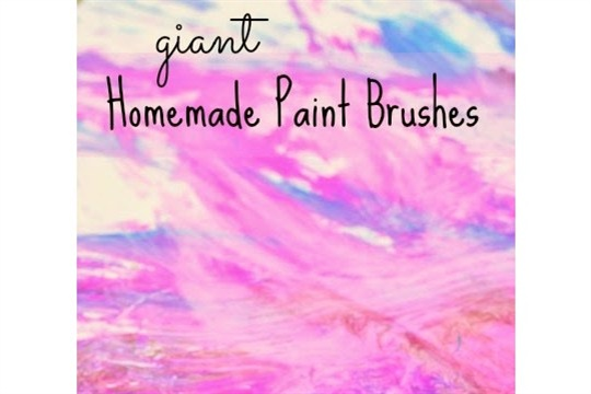 Homemade Yarn Paint Brushes ~ Learn Play Imagine