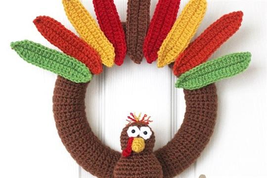 Crochet Turkey Wreath