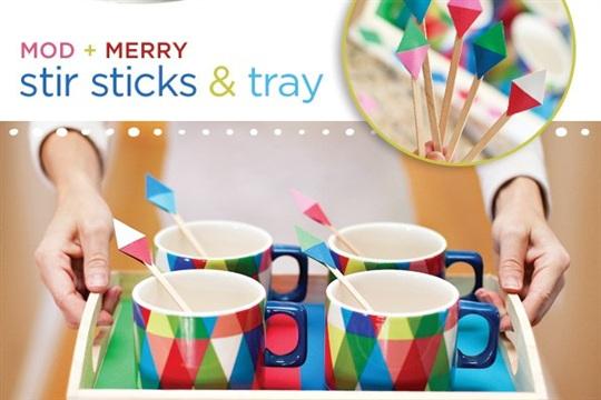 {DIY Tutorial} Mod + Merry Stir Sticks, Garland & Party Tray