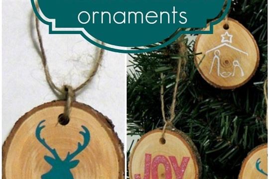 DIY Wood Disc Ornaments
