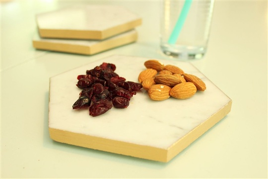 DIY Gold Leaf Marble Hex Trays - Fast & Easy Upgrade!