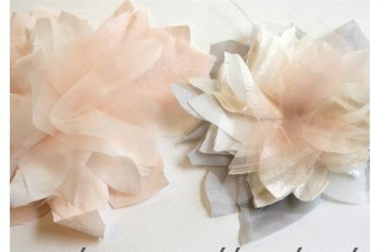 My wedding dress flowers tutorial