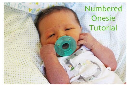 Numbered Onesie