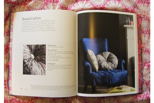 LIBERTY BOOK OF HOME SEWING ROUND CUSHION