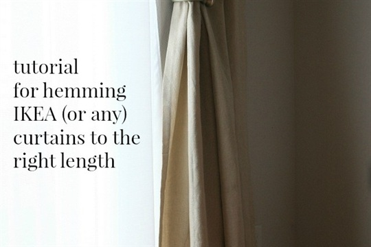 How to hem IKEA curtains! Essential tutorial