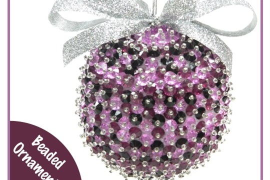 Sewing and Crafting with Sarah Beaded Christmas Ornament Tutorial