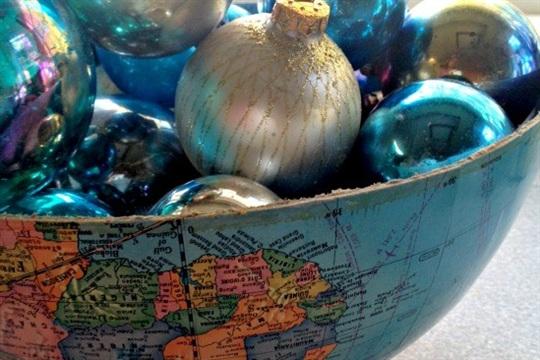 Trash to Treasure DIY Repurposed Globe Bowl